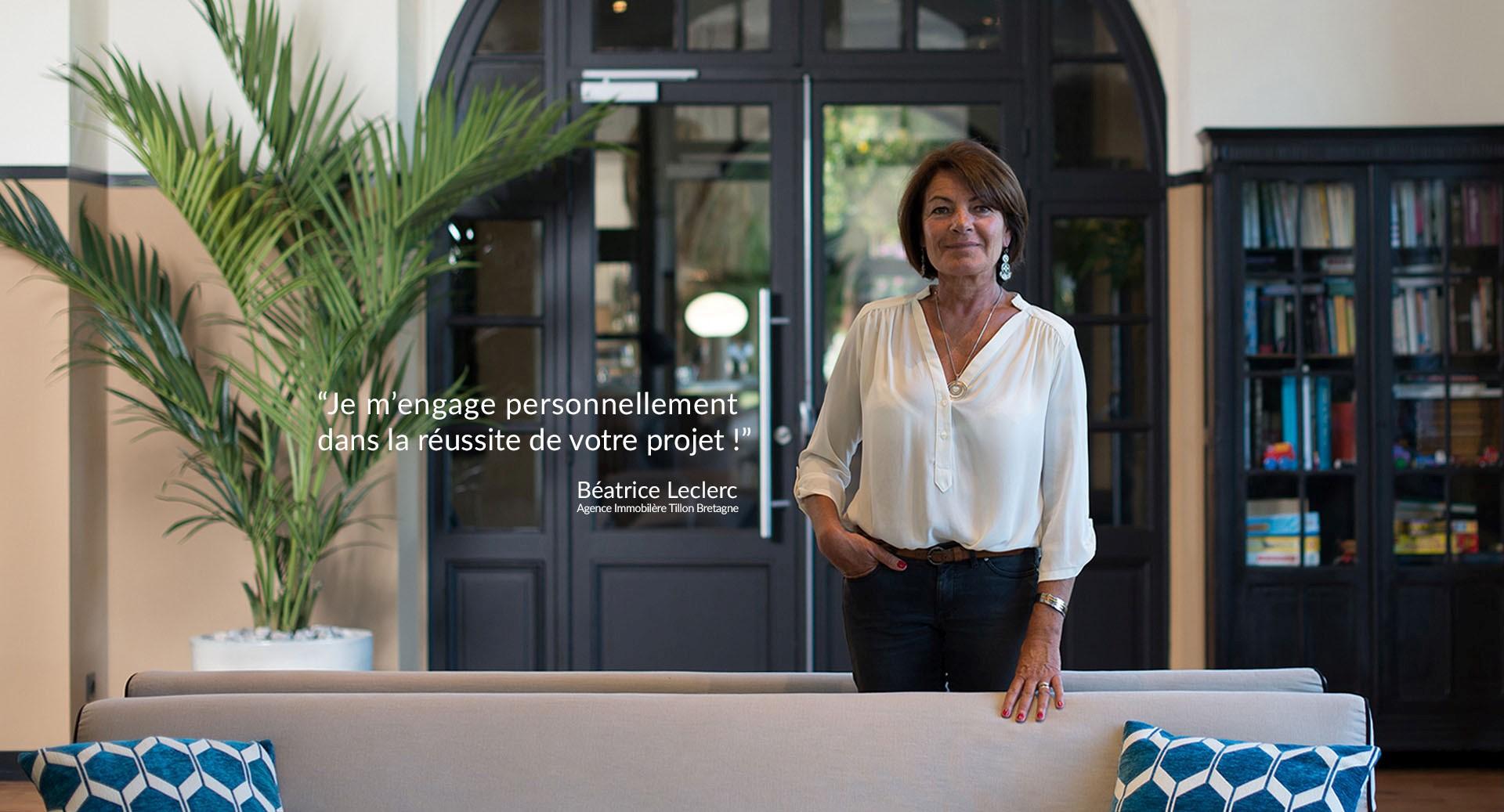 Béatrice LECLERC : Directrice de l'agence Immobilière Tillon Bretagne à Erquy (22430)